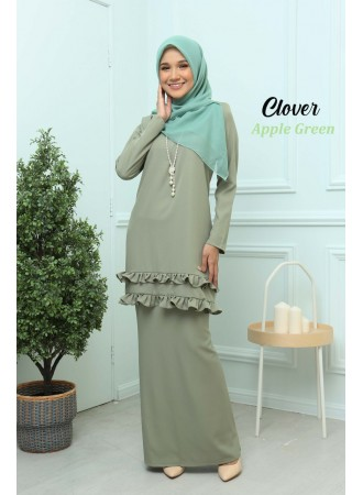 Kurung Clover - Apple Green