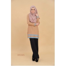 Blouse Olivia - Gold Brown