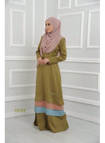 Jubah Maple - Olive Green