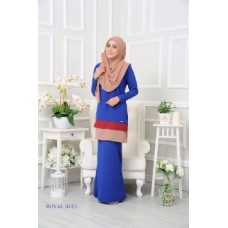 Kurung Dorothy - Royal Blue
