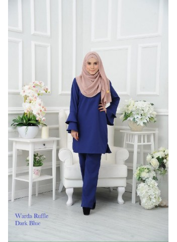 Warda Ruffle - Dark Blue