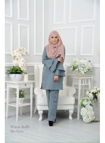 Warda Ruffle - Sky Grey